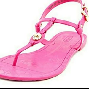 **Host Pick** Coach Pink Jelly Sandals